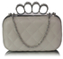 LSE00189 - Ivory Knuckle Clutch/Crossbody purse
