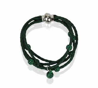 LSB0057- Dark Green Crystal Bracelet