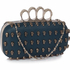 LSE00184 - Navy Women's Knuckle Rings Evening Bag