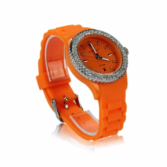 LSW0017- Wholesale & B2B Orange Fashion Diamante Watch Supplier & Manufacturer