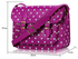 LS0087 - Womens Purple Spotty Satchel Shoulder Handbag