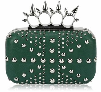LSE00185- Green Women's Studded Evening Bag