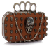 LSE00194- Wholesale & B2B Brown Women's Knuckle Rings Evening Bag Supplier & Manufacturer