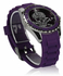 LSW0012- Unisex  Purple Skull Watch