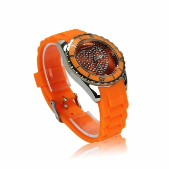 LSW005- Wholesale & B2B Women's Orange Heart Diamante Watch Supplier & Manufacturer