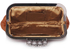 LSE00196 - Brown Sparkly Crystal Satin Evening Clutch