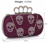 LSE00198- Wholesale & B2B Purple Women's Knuckle Rings Evening Bag Supplier & Manufacturer