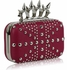 LSE00185- Pink Women's Studded Evening Bag