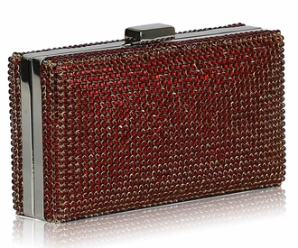 LSE00190- Red Sparkly  Evening Clutch