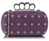 LSE00203 - Purple Knuckle Rings Clutch Purse