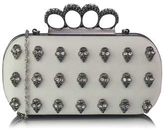LSE00203- Wholesale & B2B Ivory Knuckle Rings Clutch Purse Supplier & Manufacturer