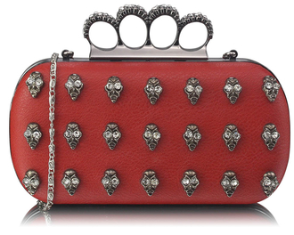 LSE00203- Wholesale & B2B Red Knuckle Rings Clutch Purse Supplier & Manufacturer