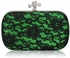 LSE00215 - Classy Green Ladies Lace Evening Clutch Bag