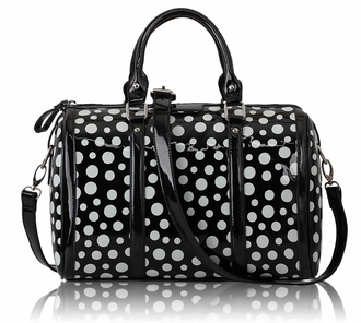 LS0069 - Black Polka Dot Tote Bag