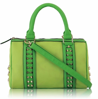 LS7007 - Wholesale & B2B Green Studded  Bag Supplier & Manufacturer