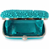 LSE00209 - Emerald Beaded Pearl Rhinestone Clutch Bag