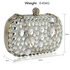LSE00210 - Wholesale & B2B Silver Sparkly Crystal Satin Clutch purse Supplier & Manufacturer