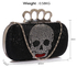 LSE00212 - Wholesale & B2B Black Women's Knuckle Rings Evening Bag Supplier & Manufacturer