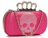 LSE00212 - Pink Women's Knuckle Rings Evening Bag