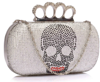 LSE00212 - Ivory Women's Knuckle Rings Evening Bag