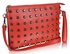 LSE00219 - Red Purse With  Stud Detail