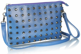 LSE00219 - Blue Purse With  Stud Detail