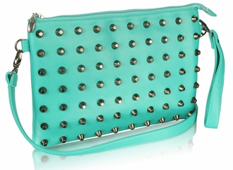 LSE00219 - Emerald Purse With  Stud Detail