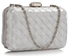 LSE0090 - Gorgeous Ivory Hard Case Evening Bag