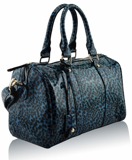 LS7008B - Wholesale & B2B Emerald Patent Animal Print Bowling Handbag Supplier & Manufacturer