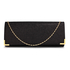 LSE00235 - Black Glitter Clutch Bag