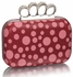 LSE00223 - Red Women's Knuckle Rings Clutch With Crystal Decoration