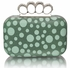 LSE00223 - Green Women's Knuckle Rings Clutch With Crystal Decoration