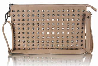 LSE00230 - Nude Purse With  Stud Detail
