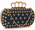LSE00231- Wholesale & B2B Navy Women's Knuckle Rings Evening Bag Supplier & Manufacturer