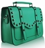 LS00280M - Emerald Studded Satchel