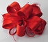 LSH00177-  Red Feather & Flower Fascinator