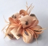 LSH00178 - Nude Feather & Flower Fascinator