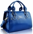 LS0043B - Blue Studded Fashion Satchel Handbag