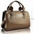 LS0043B - Nude Studded Fashion Satchel Handbag