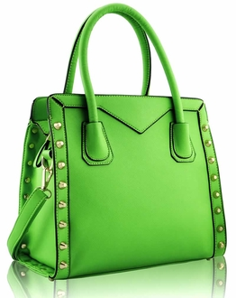 LS00165 - Green Studded Tote Bag