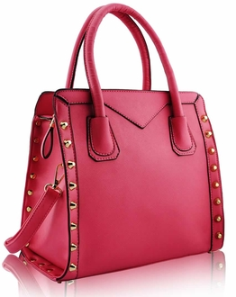 LS00165 - Pink Studded Tote Bag