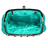 LSE0088 - Emerald Sparkly Crystal Satin Evening Clutch