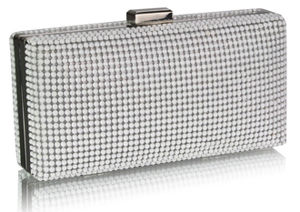 LSE00190- White  Evening Clutch