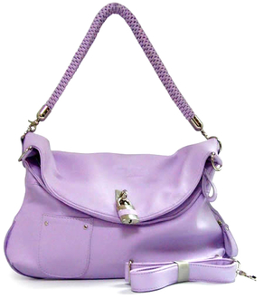 LS9967 - Pink Shoulder Satchel Bag with Padlock