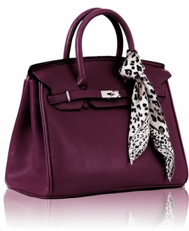 LS0065  - Luxury Purple Tote Bag With Scarf