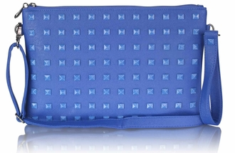 LSE0027 - Blue Studded Clutch Purse