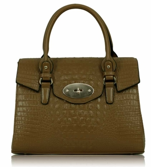 LS00122 - Tan Croc Satchel