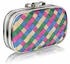 LSE0036 - Multi Colour Crystal Encrusted Clutch Evening Wedding Bag Purse
