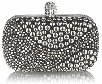 LSE0039 - Wholesale & B2B Black / Silver Studded Clutch Bag Supplier & Manufacturer