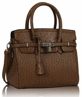LS00140B  - Luxury Tan Ostrich Tote